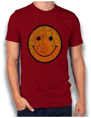 Smiley Vintage T-Shirt bordeaux L