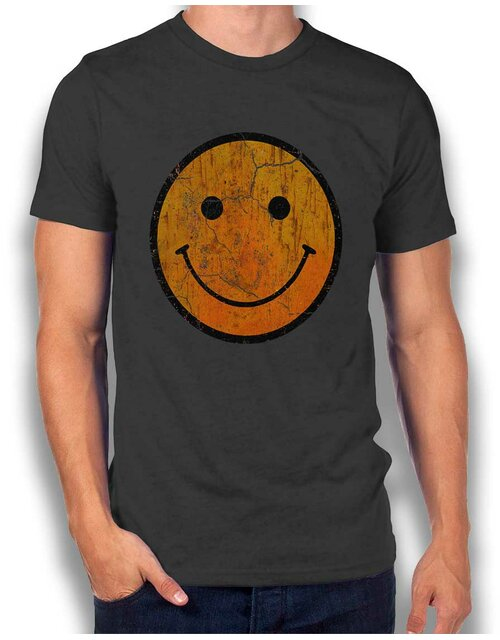 Smiley Vintage T-Shirt dark-gray L