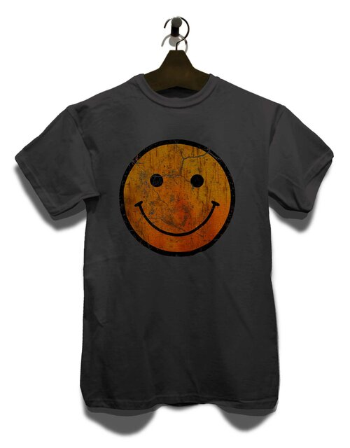 Smiley Vintage T-Shirt dunkelgrau L