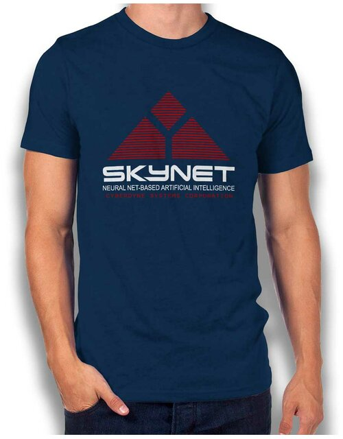 Skynet Cyberdyne Systems Corporation T-Shirt dunkelblau L