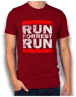Run Forrest Run T-Shirt bordeaux L