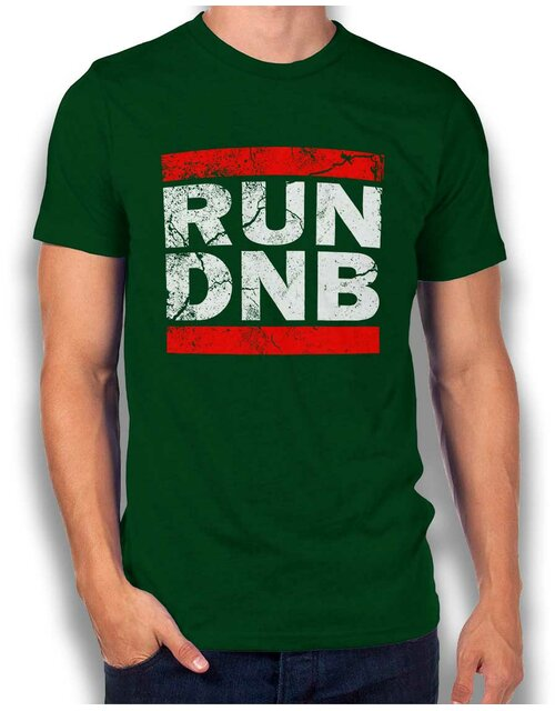 Run Dnb Vintage T-Shirt dunkelgruen 2XL