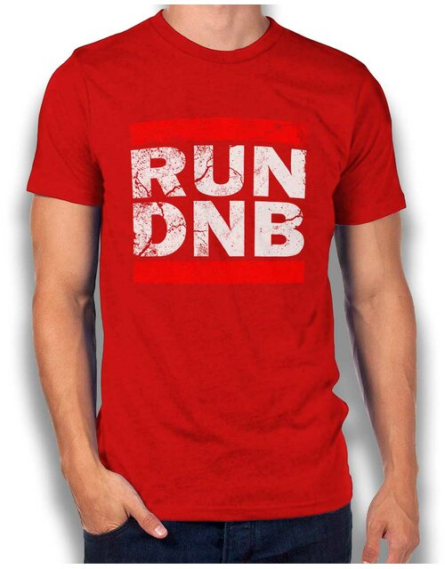 Run Dnb Vintage T-Shirt rot 2XL