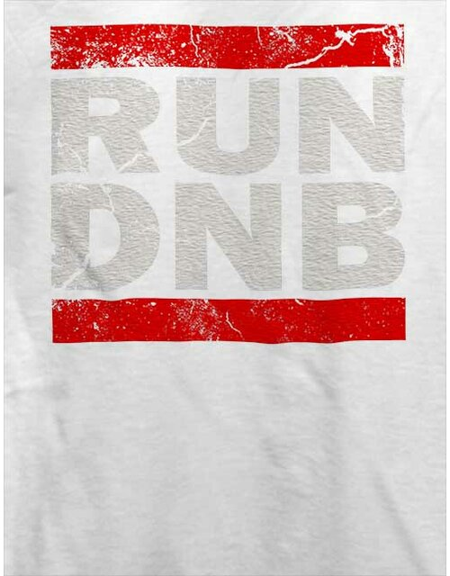 Run Dnb Vintage T-Shirt weiss XL