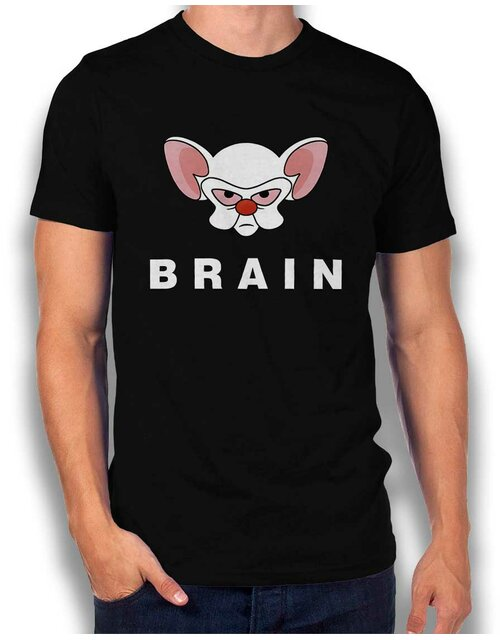 Pinky Brain T-Shirt black L