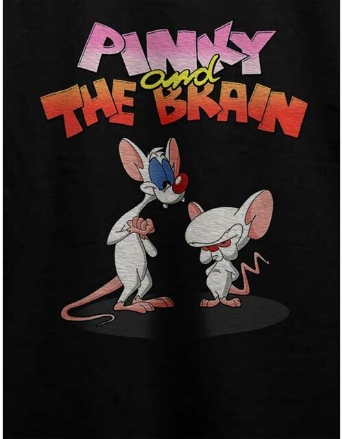 Pinky And The Brain T-Shirt schwarz L