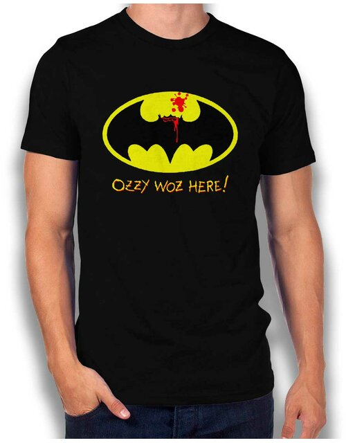 Ozzy Woz Here Batman T-Shirt black L