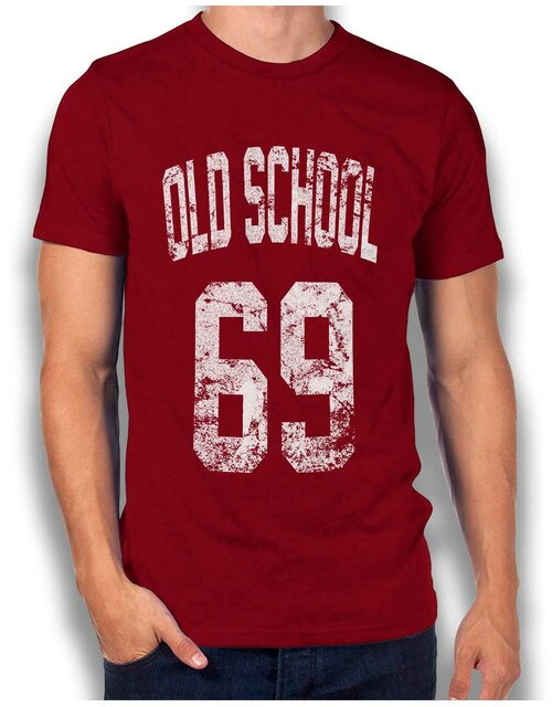 Oldschool 1969 T-Shirt bordeaux L