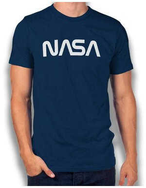 Nasa T-Shirt dunkelblau L