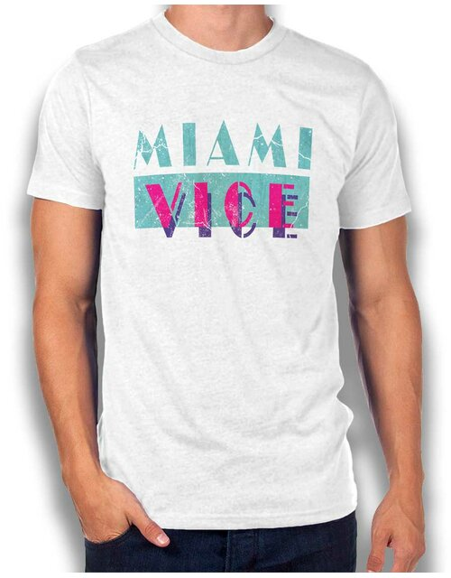 Miami Vice Vintage T-Shirt weiss L