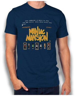 Maniac Mansion T-Shirt dunkelblau L
