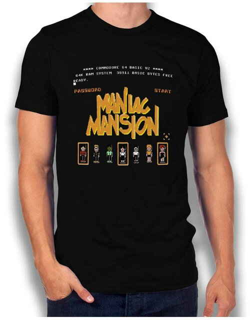 Maniac Mansion T-Shirt schwarz L