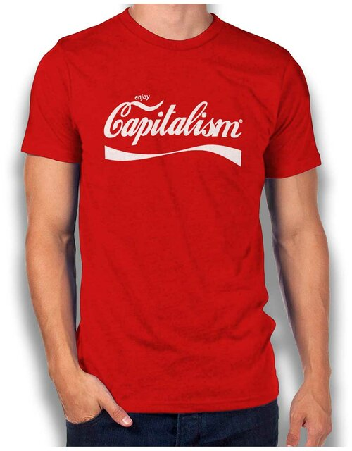 Enjoy Capitalism T-Shirt red L