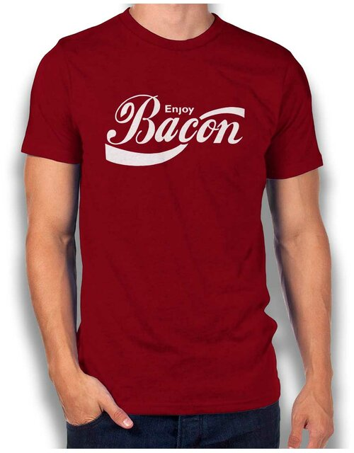 Enjoy Bacon T-Shirt bordeaux L