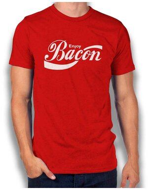 Enjoy Bacon T-Shirt rot L