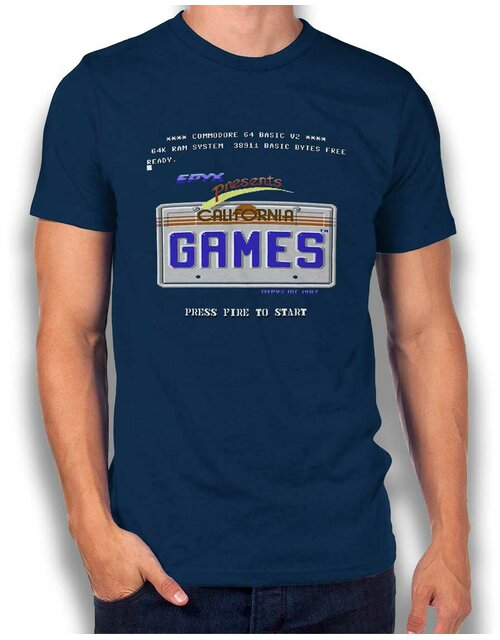 California Games T-Shirt dunkelblau L