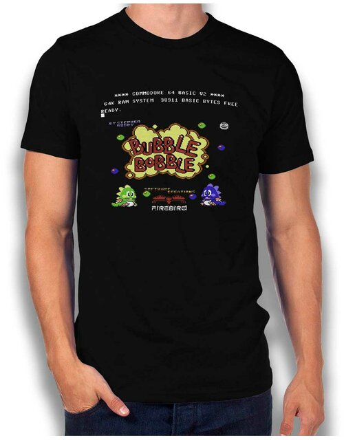 Bubble Bobble T-Shirt schwarz L