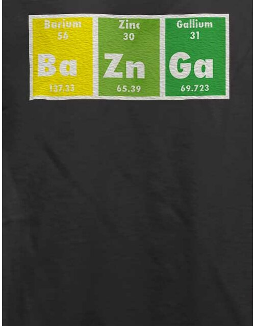 Bazinga Elements T-Shirt dunkelgrau 2XL