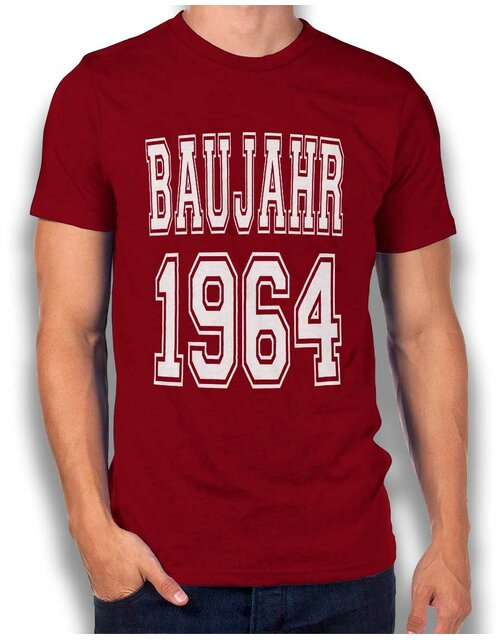Baujahr 1964 T-Shirt bordeaux L