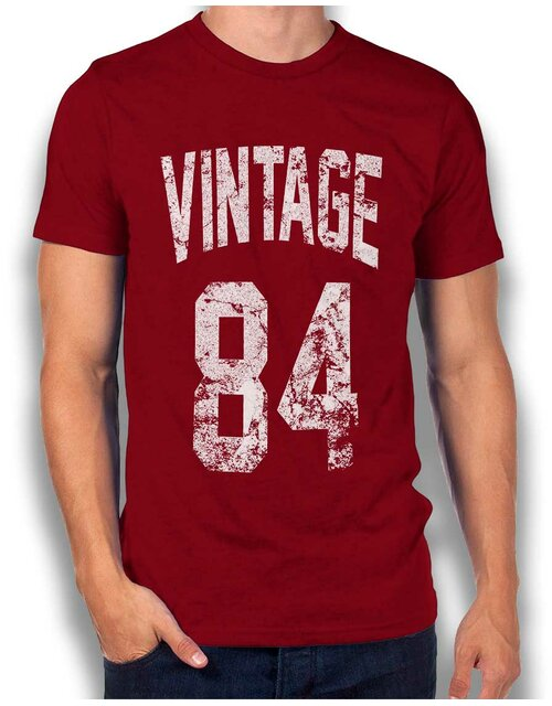 Vintage 1984 T-Shirt bordeaux M