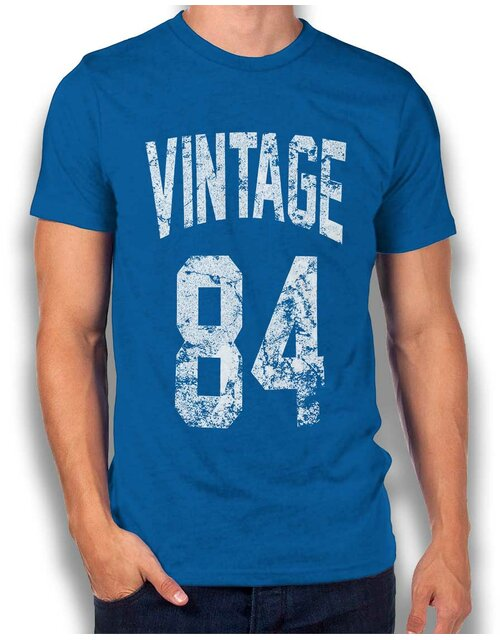 Vintage 1984 T-Shirt royal L