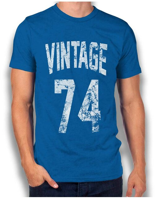 Vintage 1974 T-Shirt royal XL