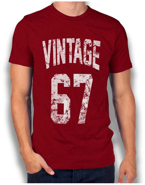Vintage 1967 T-Shirt bordeaux L