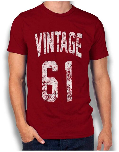 Vintage 1961 T-Shirt bordeaux L