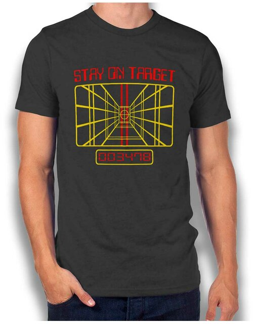 Stay On Target T-Shirt dunkelgrau L